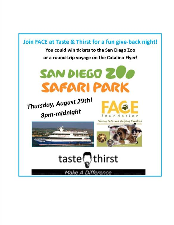 Taste and Thirst Give-back Night Offers a Chance to Win Raffle Prizes!