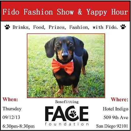 Fido Fashion Show and Yappy Hour!!