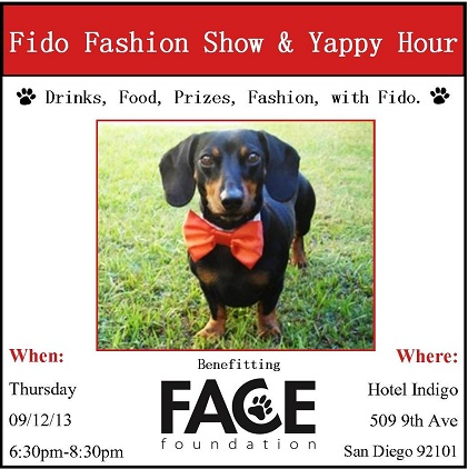 Fido Fashion Show and Yappy Hour!!